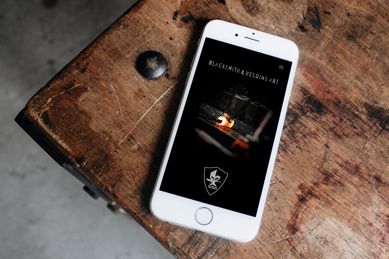 Responsive mobile web design for the blacksmith and welding artist The Lord Of The Burner
